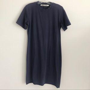 MICHAEL STARS NAVY BLUE SHORT SLEEVE T-SHIRT DRESS